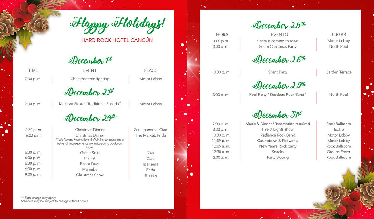 Новогодняя программа в отеле Hard Rock Cancun Hotel