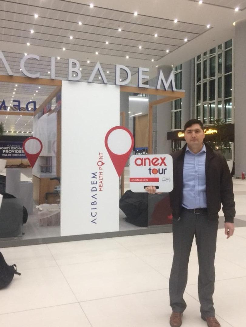 Место встречи туристов в новом аэропорту Стамбула