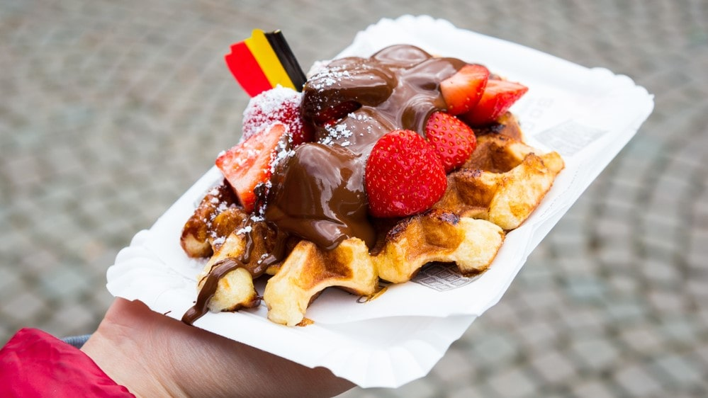 Бельгийская вафля с шоколадом