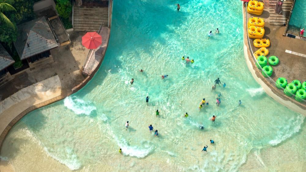 Аквапарк на острове Сентоза
